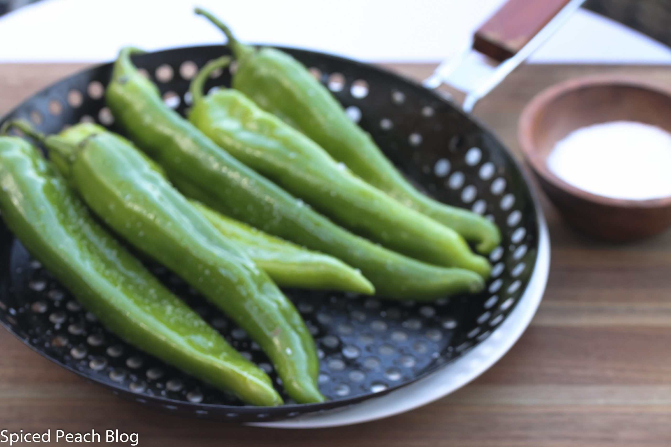 hatch chiles on grill pan