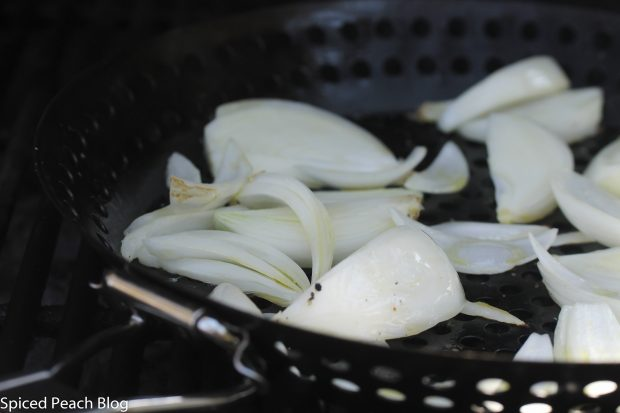 grilled white onions
